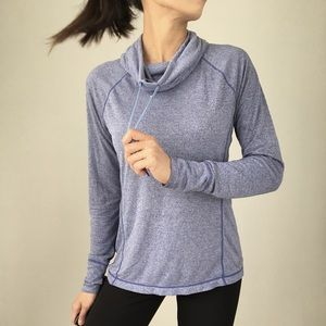 GAP FIT athleisure pullover top with cowl neck